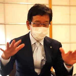 栗山監督はオンライン取材で今季の主将について話す。
