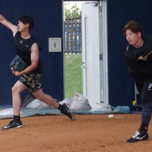【FIGHTERS】金子に上沢に吉田輝星らほとんどの投手が先乗りで沖縄・名護に揃う。