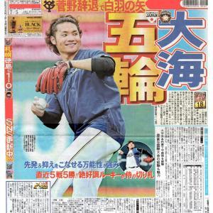新人・伊藤大海投手が菅野投手の代わりに侍ジャパン入り!?