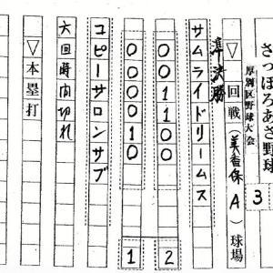 札幌アカシヤ倶楽部試合結果 2019.8.3-8.7
