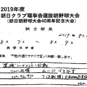 [コピー]2019年度 朝日クラブ理事会選抜朝野球大会