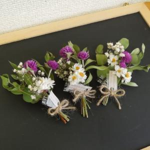 ドライフラワーのミニブーケ 花束 ちょこっとインテリアオブジェ