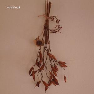 紫蘭の花後のドライフラワー スワッグ シャビー アンティーク 撮影材料