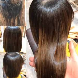 ブリーチをしている人に髪質改善トリートメントと縮毛矯正をやった実例!(計3回目)