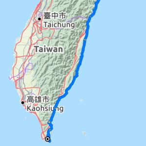 台湾 自転車ツーリングのプランニング
