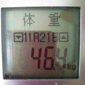 最小体重更新【46.4kg】残り3.2キロ。誓いの言葉