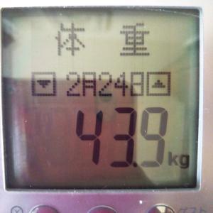 祝☆43キロ台【43.9kg】&食べ放題【2948kcal】