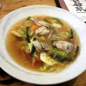 牡蠣のあんかけラーメン