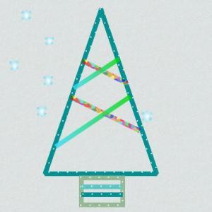 クリスマスツリーをマスキングテープで壁に 形をきれいに作る簡単な方法