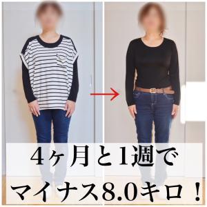 【中間報告】マイナス8.0キロ達成!橋本病でも痩せられる!