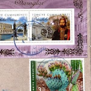 トルコから珍しく、サボテン切手