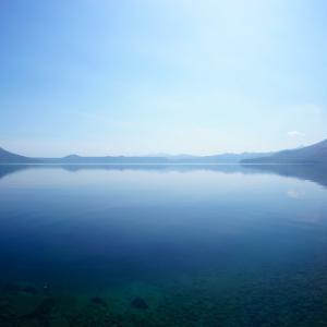 ウルフ 仕事終わりに支笏湖