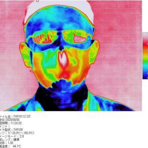 メガネが皮膚よりも見た目高温