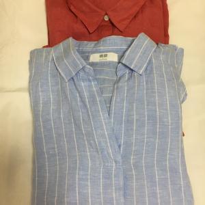 UNIQLOの明るい色のリネンシャツで気分を上げる!