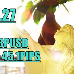 【3.27】GBPUSD5分足トレード +45.1PIPS