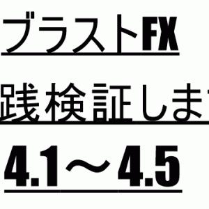Black・AI・ストラテジーFX(ブラストFX)実践検証(2019.4.1~4.5)