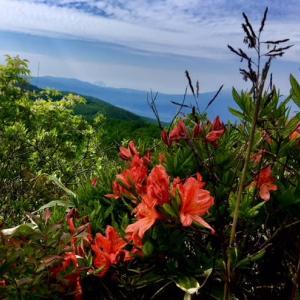 湯の丸山と烏帽子岳