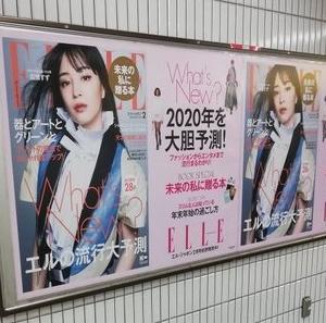ELLE(女性誌)2020年2月号の表紙の美女は誰?略歴や出演CMまとめました!
