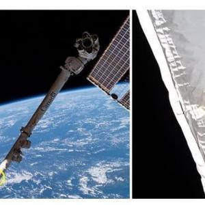 宇宙ゴミがISSのロボットアームに衝突