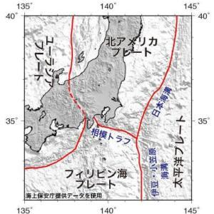関東には東北、相模、東海の3の地震源があるとは!