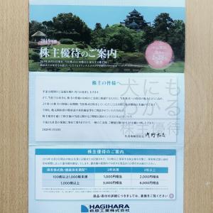 【カタログ掲載】萩原工業(7856)の株主優待到着報告(R1.10月末優待)