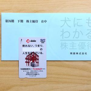 岡部(5959)の株主優待到着報告(R1.12月末優待)