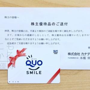【クオカード】カナデン(8081)の株主優待到着報告(R2.3月末優待)