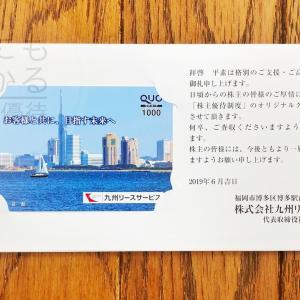 九州リースサービス(8596)の株主優待到着報告(H31.3月末優待)