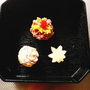 お菓子は三種