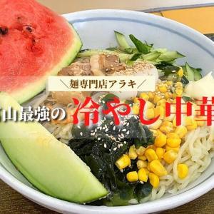 【麺専門店アラキ】富山で最強の冷やし中華を食べて来たよ!具だくさん!もっちり麺は普通盛りでも大盛りサイズ!