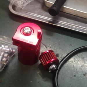 ジムニー(JB23)オイルキャッチタンク取付
