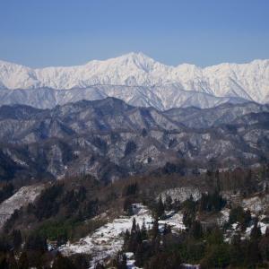 北アルプス雪景色