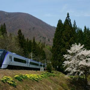 春の風景と大糸線 1