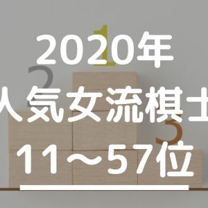 103名が選んだ将棋女流棋士人気ランキング2020 11~57位