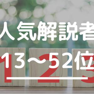 【解説名人の称号は誰の手に!?】将棋解説者人気ランキング2019 13~52位
