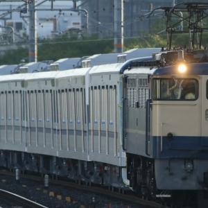甲種輸送 東京メトロ13000系、75レ EF65-2084