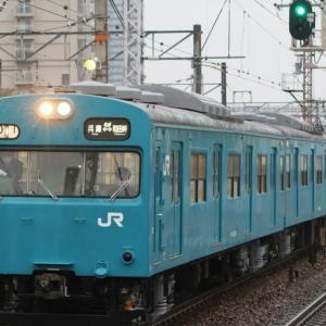 JR和田岬線103系 返却回送、117系金光臨