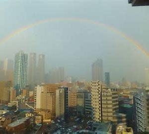 抱かれるごと高階に虹を見る寺井谷子