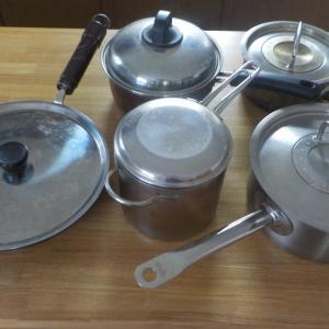 3人家族・我が家の鍋・フライパンは5+2個