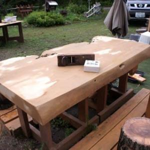 外テーブルで10年修行
