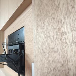 壁掛けテレビDIY!リノベーションだからできた配線スッキリ