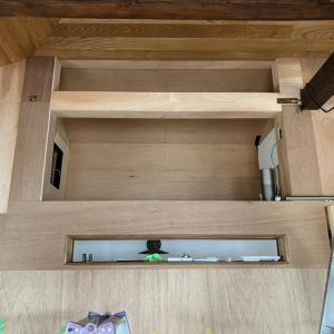 DIYで作った小屋裏収納(階段上収納)