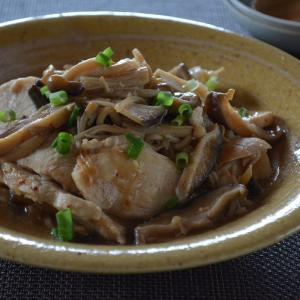 電気圧力鍋で作る鶏むね肉とキノコの中華炒め蒸し