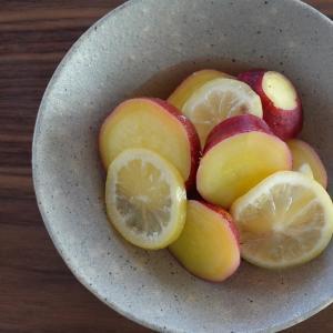 【電気圧力鍋レシピ】加圧4分・さつまいものはちみつレモン煮