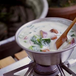キャンプ飯・シェラカップで作る朝ごはんにおすすめのスープ