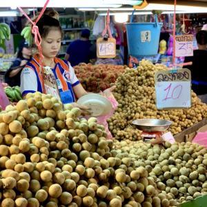 バンコク最大級の生鮮市場「クロントゥーイ市場」で大興奮!18品目を買い出しました。