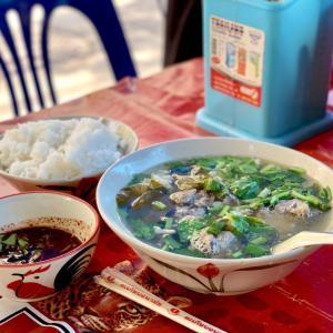 《絶品!牛スープ第2弾》6種牛モツの透明スープ、ラーントムヌアパーミヤオ。