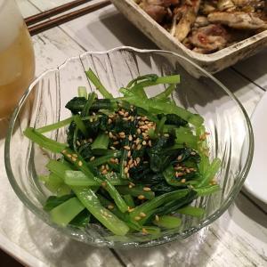 秋ジャガイモと小松菜と台風