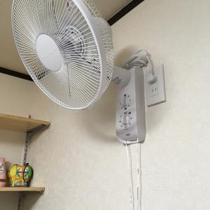 壁掛け扇風機の電気工事