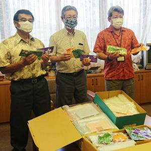 周防大島町商工会女性部が手作りマスクを町に寄贈